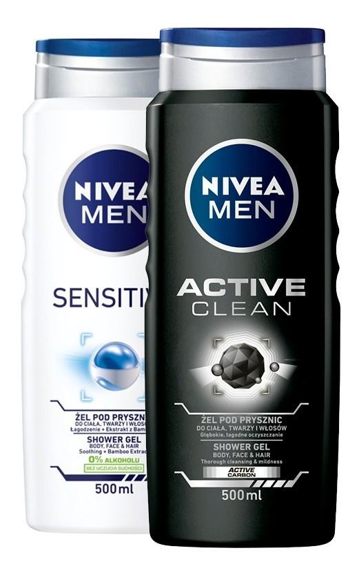 NIVEA Żele pod prysznic dla mężczyzn różne rodzaje 500ml