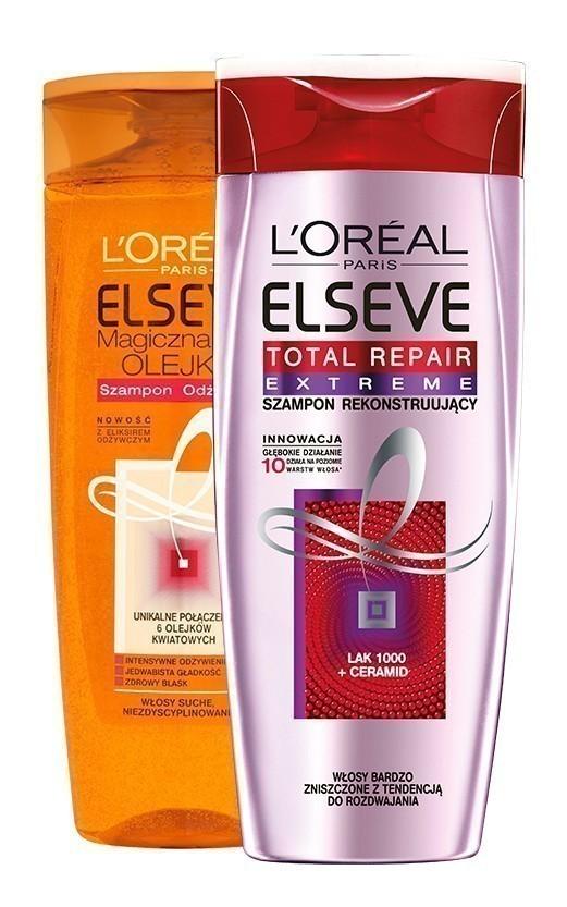 ELSEVE Szampony do włosów różne rodzaje 400ml